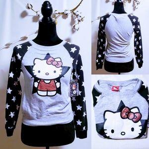 Hello Kitty Stars sweatshirt, Girls XL(14/16)🦄💋